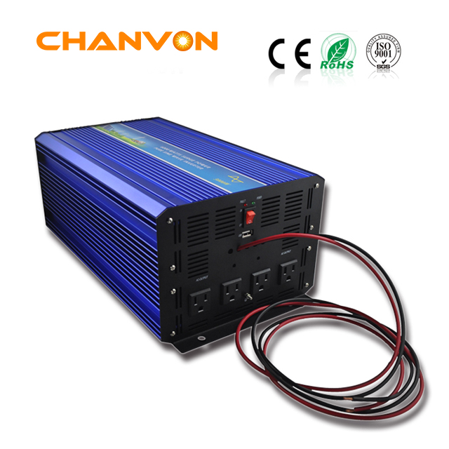 Pure sine ware power inverter with charger